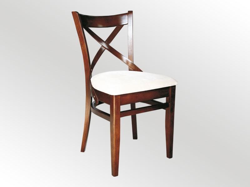 krzesło z krzyżakowym oparciem