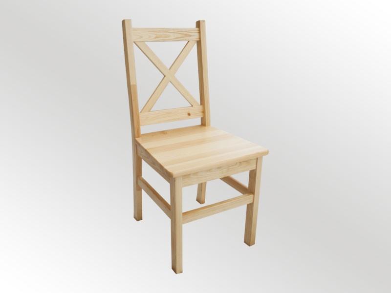Proste drewniane skandynawskie krzesło