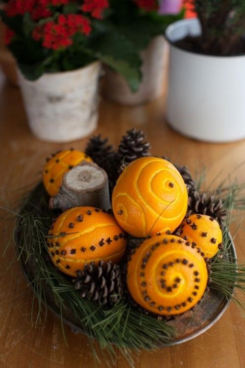 świąteczne pomarańcze