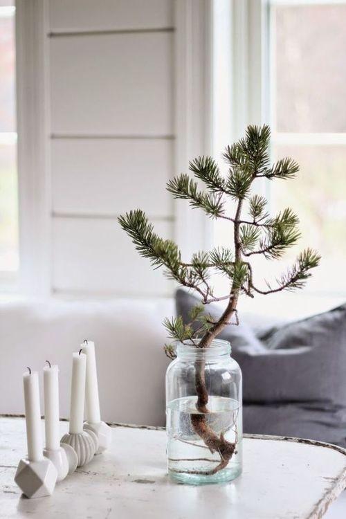 minimalistyczna dekoracje świąteczna
