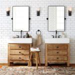 drewniane półki do łazienki